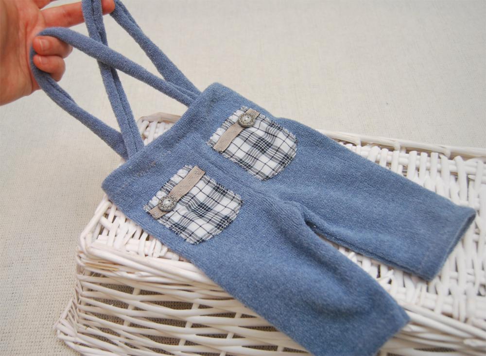 Newbornドレス☆元気な男の子に!サスペンダーつきパンツ ブルー