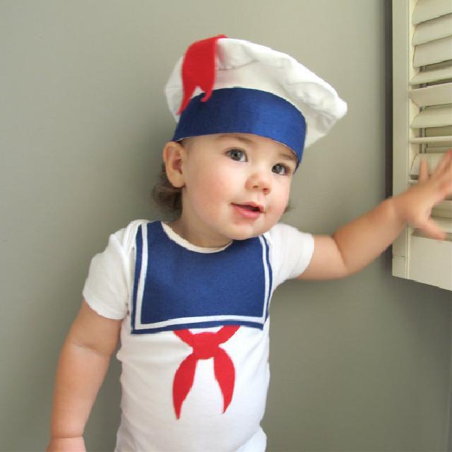 ハロウィン コスチュームマシュマロマン柄ロンパース♪可愛いくておもしろい海外デザイン♪ Newborn-24months