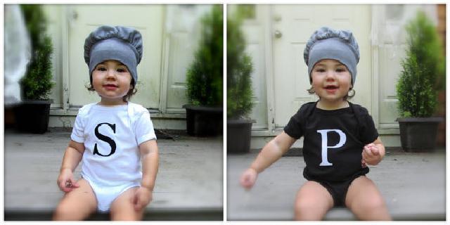 塩コショウの瓶柄ロンパース 瓶のふた帽子付き 2枚組♪可愛いくておもしろい海外デザイン♪ Newborn-24months
