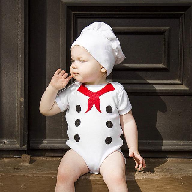 可愛いリトルシェフ♪ロンパース♪可愛いくておもしろい海外デザイン♪ Newborn-24months