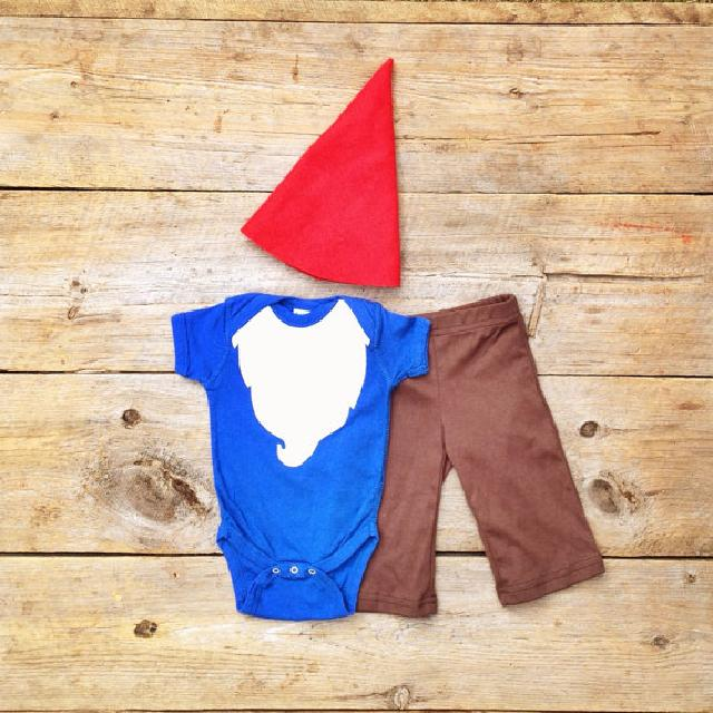 ♪ひげのこびとさん 帽子ズボン付き♪ロンパース♪可愛いくておもしろい海外デザイン♪ Newborn-18months