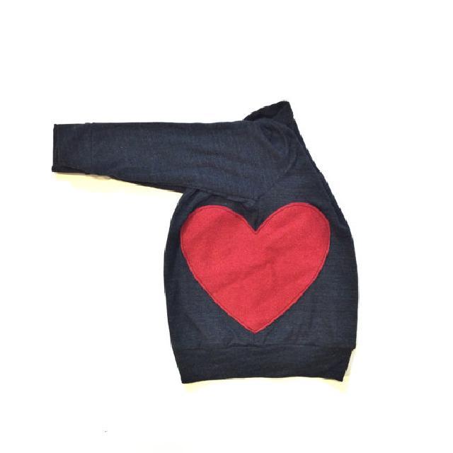 赤いハート刺繍カーディガン♪可愛いくておもしろい海外デザイン♪
