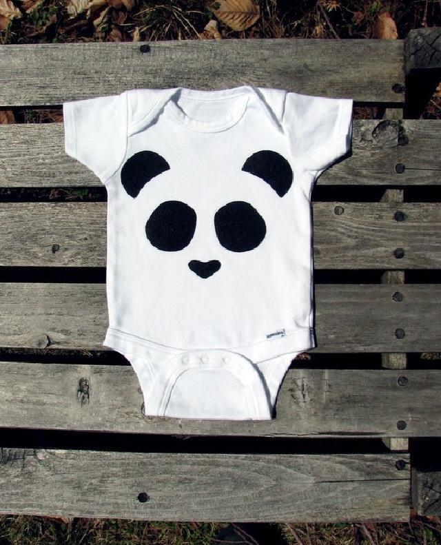 パンダ柄ロンパース♪可愛いくておもしろい海外デザイン♪ Newborn-24months
