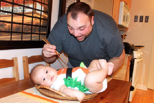 ハロウィン コスチューム お寿司柄 ♪ロンパース♪可愛いくておもしろい海外デザイン♪ Newborn-24months