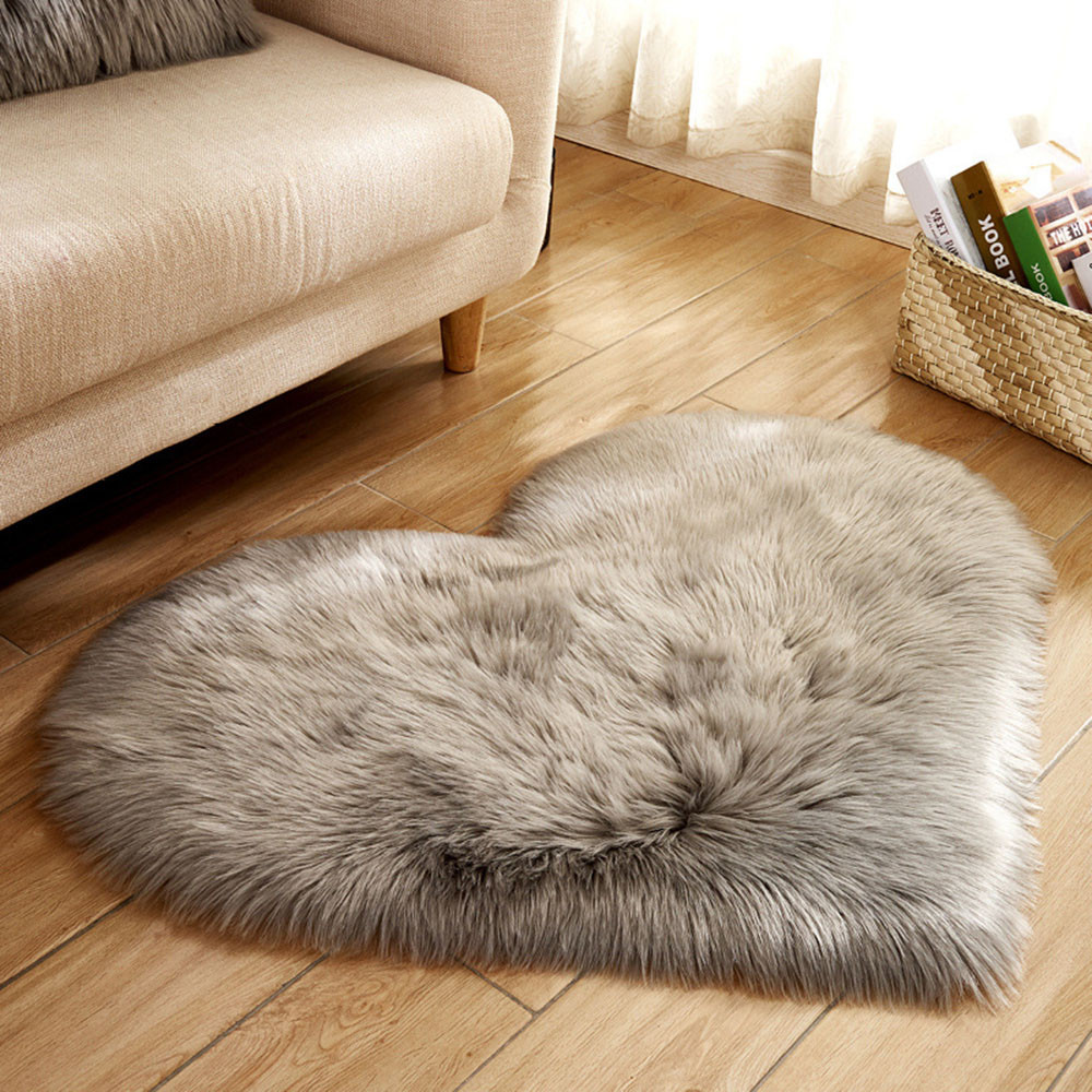 ハートの形の敷物ファー 双子ニューボーン ペット&赤ちゃん 40x50cm 7色