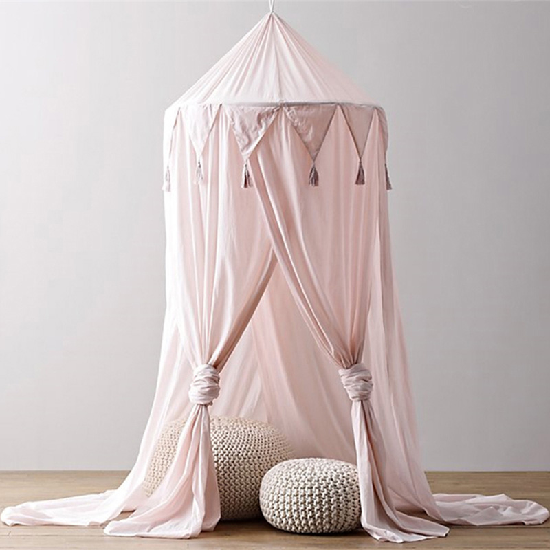 ベビーベッドキャノピーベッド蚊帳カーテン寝具ラウンドドームテント綿