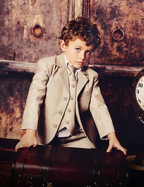 ボーイズフォーマルスーツ♪クールな男の子スーツ5点セット ハーフバースデーから5歳まで
