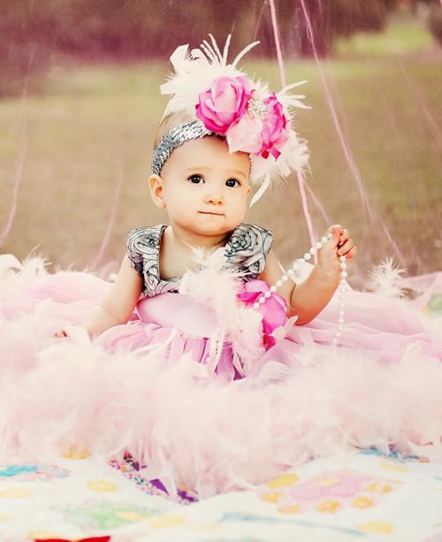 ピンクローズヘッドドレス