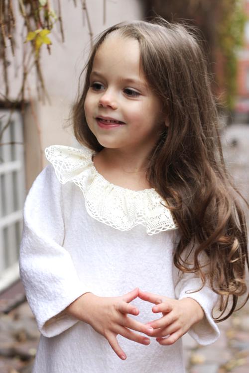 まるで天使♪真っ白ウールワンピース9months−6才