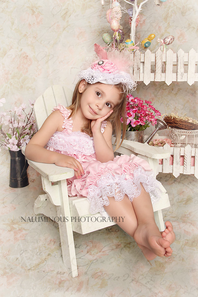 素敵なレースとロゼット☆ピンクのフェザーと大きなお花のヴィンテージハット