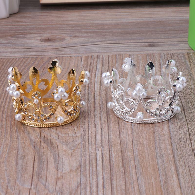 ニューボーンべビ-用王冠クラウン 5.5cm ゴールド/シルバー