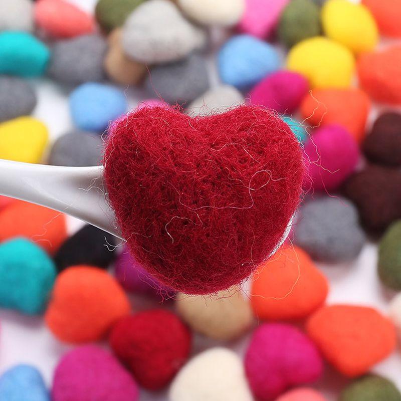 ハートのフェルト 5cm 撮影小物赤ピンクグレーベージュ