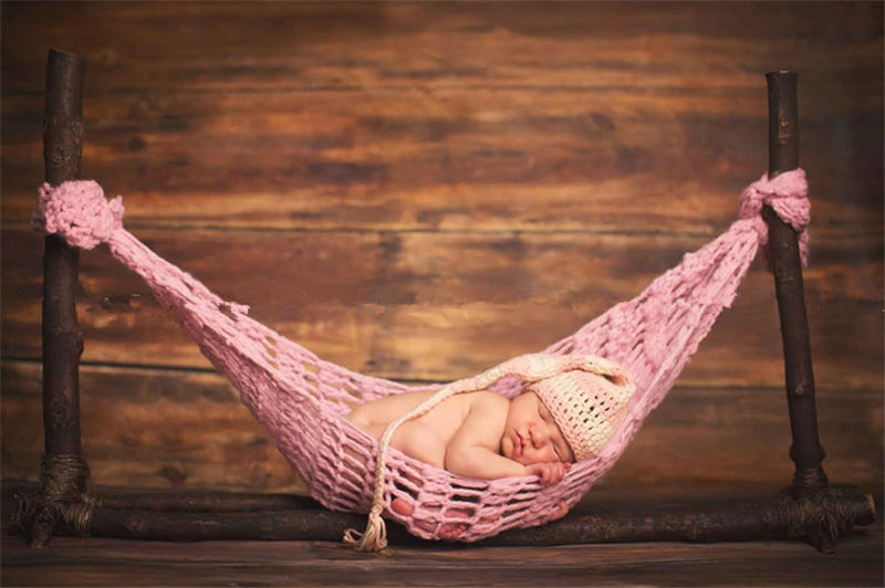 かぎ針編みのハンモック♪かわいいピンク Newborn-6Months Baby