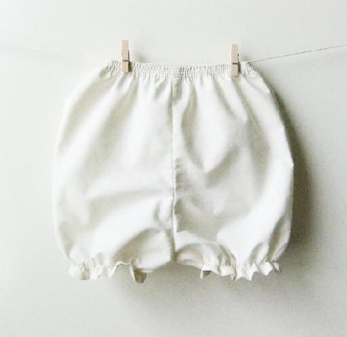 ベビーセレモニーパンツ☆アンティークアイボリー/ピュアホワイトカラー☆
