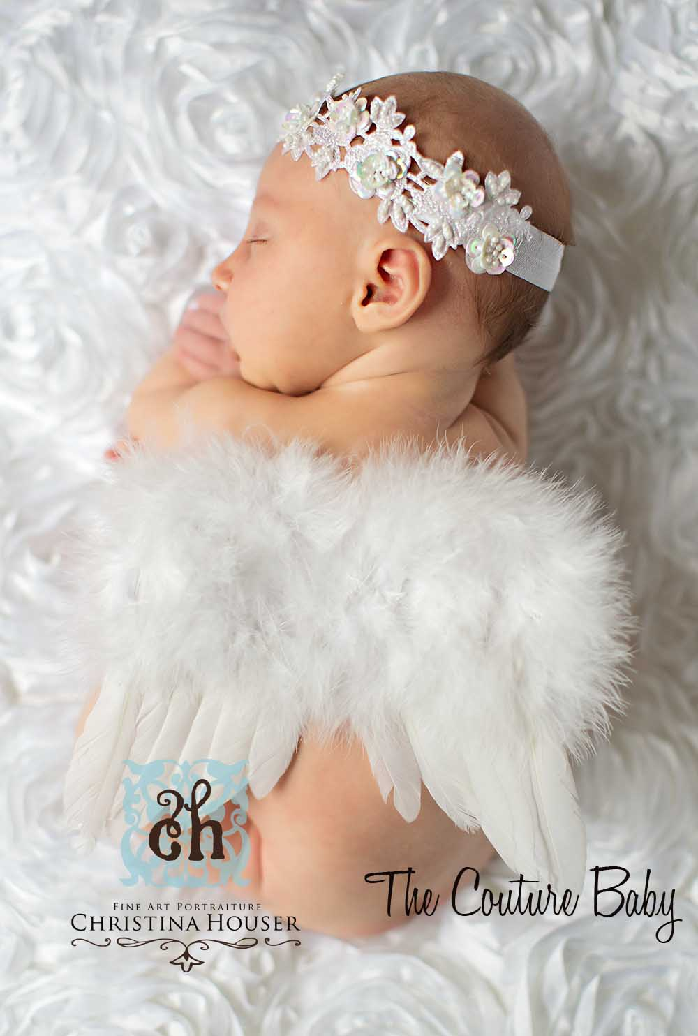天使の羽根&ヘアバンドセット ニューボーンフォト
