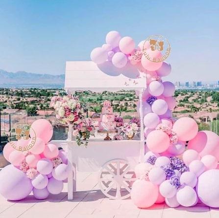 バルーン☆ピンク&パープルセット【撮影小道具・イベント・ウェディング・飾り・誕生日・パーティーなどおしゃれに演出♪】