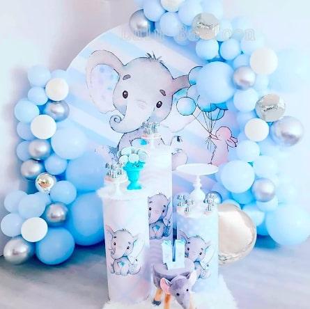 バルーン飾りセット☆ブルー・シルバー・ホワイト「sweet sixteen(スイートシックスティーン、スイート16)」