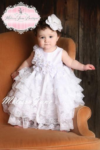 プリンセスになれる純白のドレス「Be My Baby Princess White Dress」0歳から2歳