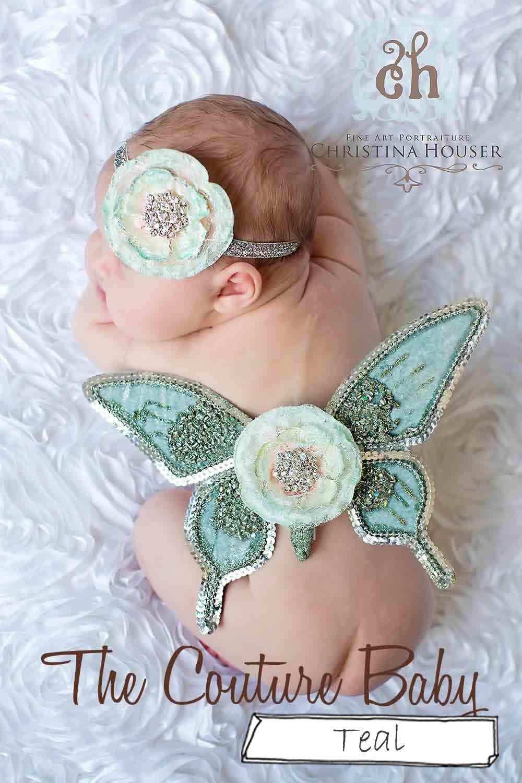 蝶々の羽根&ヘアバンドセット【angel butterfly】 ニューボーンフォト