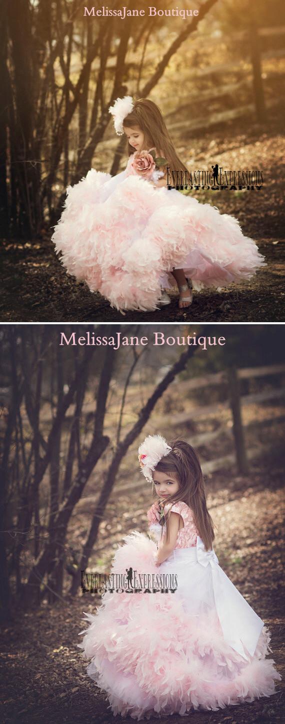 精巧な花びらのドレス「Exquisite Petal Flower Girl Dress」1歳から8歳