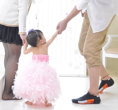 フェザースカート ベビーモデルきらりちゃん