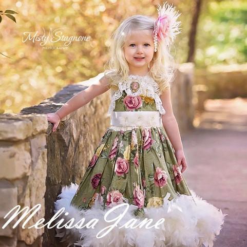 風と共に去りぬ〜ヴィンテージレトロクラシック フェザードレス「Vintage Retro Classic Gone with the Wind Feather Dress」1歳から6歳