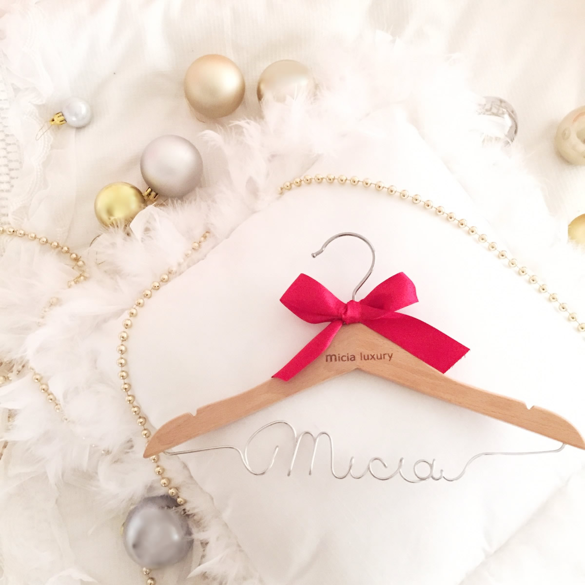 おとな名入れハンガー☆かわいいオリジナルハンガー☆何個も欲しくなるもらって嬉しいプレゼント♪