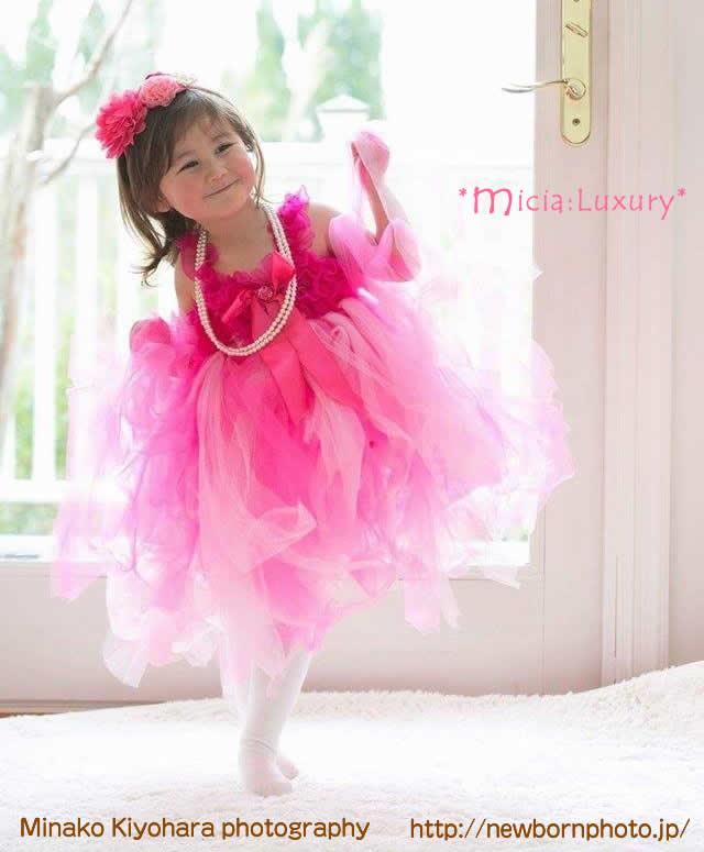 フクシア&ライトピンクチュチュドレス