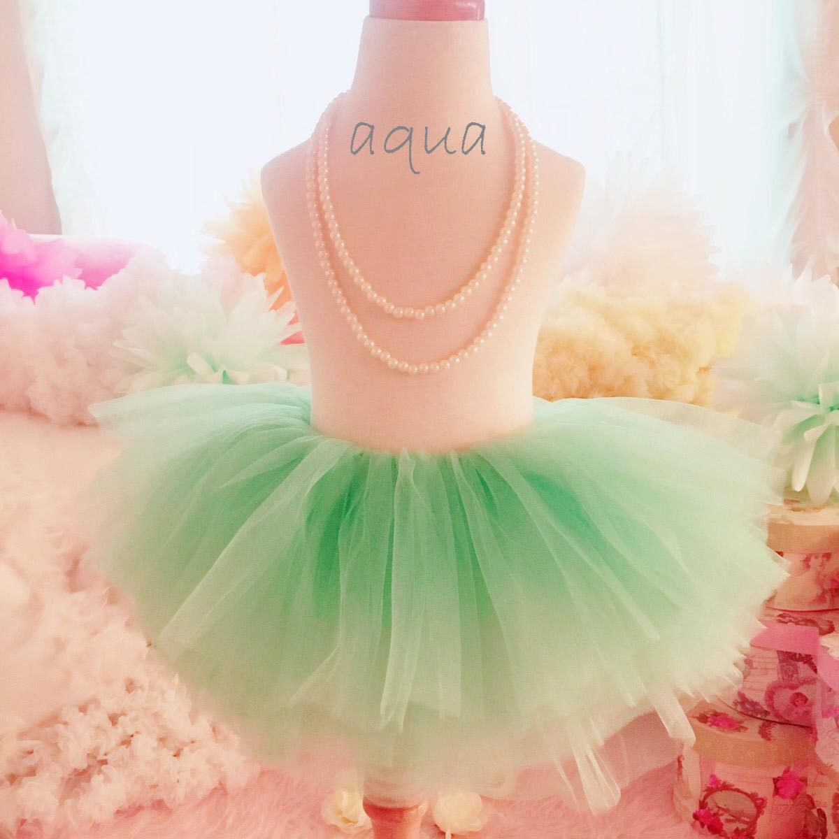 ソフトチュールのこどもドレスアップチュチュスカート☆10色 ニューボーン/4monts-3T/4T-8T  0才~8才までのプリンセスなお姫様スカート ドレスにも普段着にもOK!