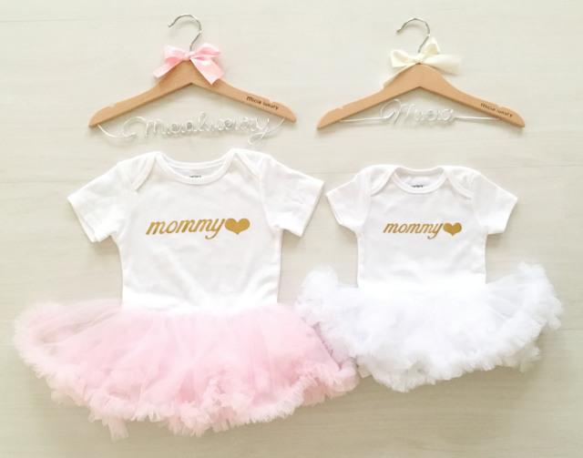 ファーストバースデーのお祝いチュチュ付ロンパース☆ピンク・ホワイト 2色展開