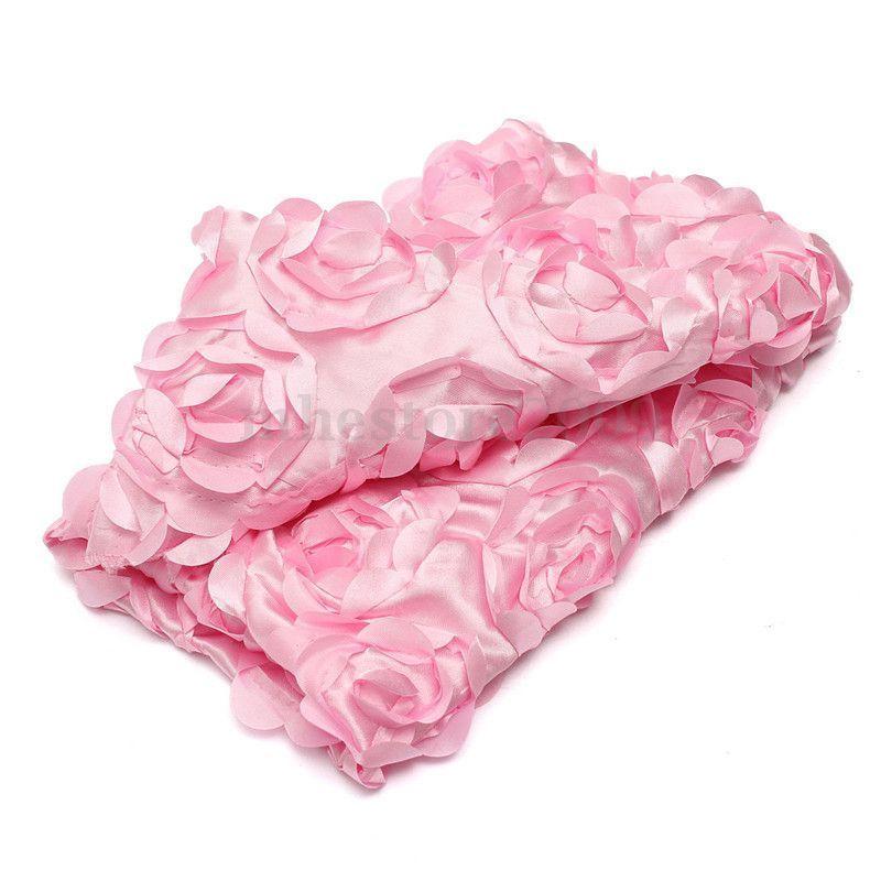 Newbornフォトの必需品★立体的なバラのサテンブランケット