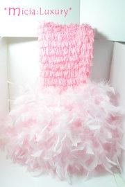 フェザースカート ライトピンクロンパース