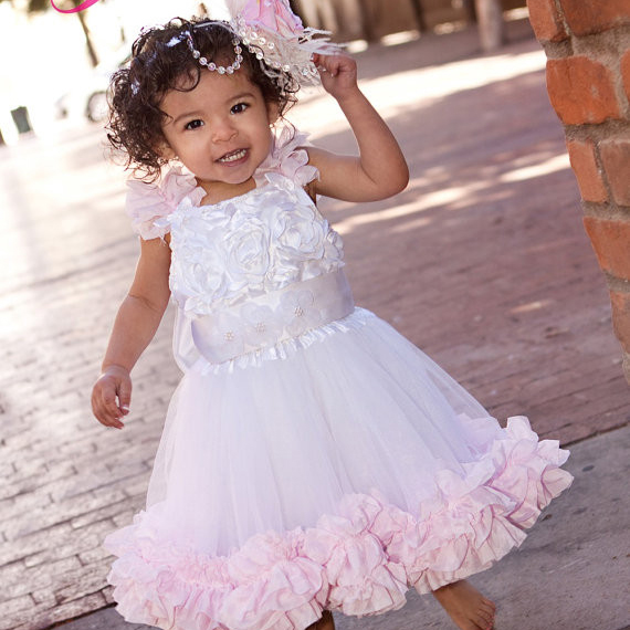Oh so pretty girls ruffled oh so pretty girls ruffled flower girl dress1 voltagebd Gallery