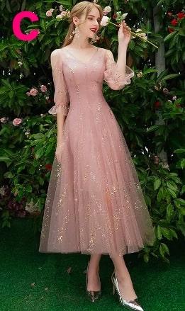 美しいレースのAラインパーティードレス sweet sixteen16 ピンク