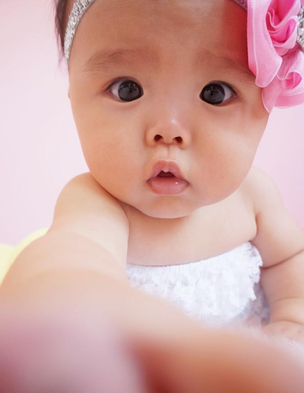 ベビーのロングロンパースホワイト&キラキラクラウンのシルバーヘッドドレスセット☆
