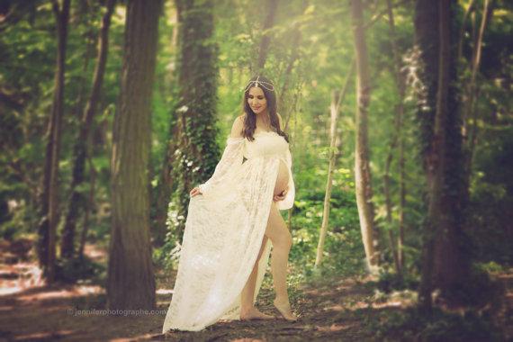 マタニティドレスオフショルダービクトリアン風ドレス