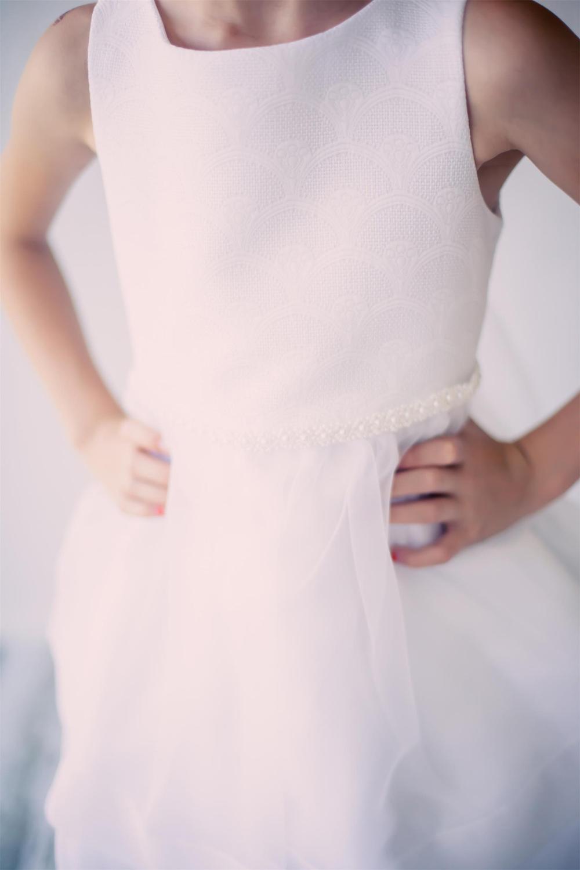 シンプルコレクション~女の子の聖餐式ドレス「Simple Collection Fan Design Girls Communion Dress」2歳から12歳