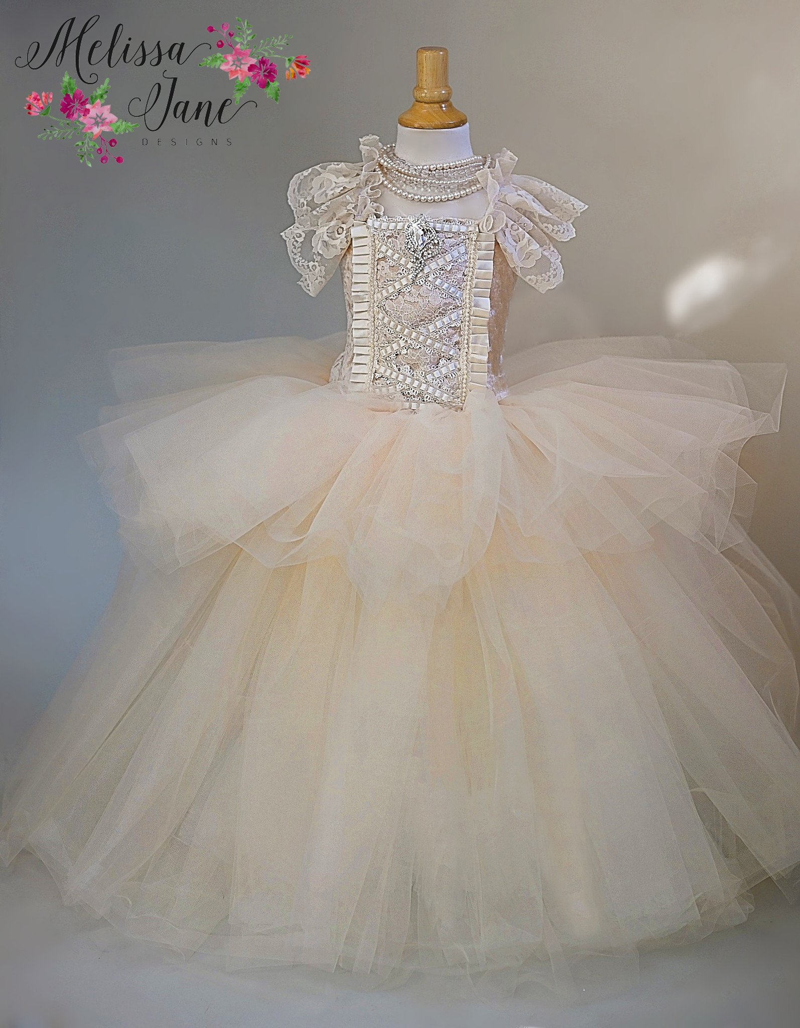 眠れる森の美女~美しいチュールドレス「Sleeping Beauty - Girls Tulle Exquisite Dress」2歳から12歳
