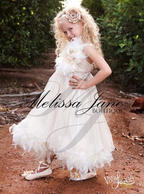 女の子の甘い喜び〜フェザードレス「Sweet Delight Girls Feather Dress」2歳から14歳