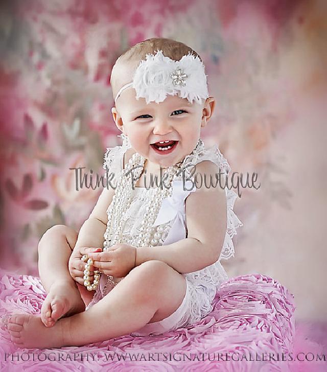 ♪肩ひもショルダー&リボン付ソフトロンパース newborn-4T☆ホワイト♪